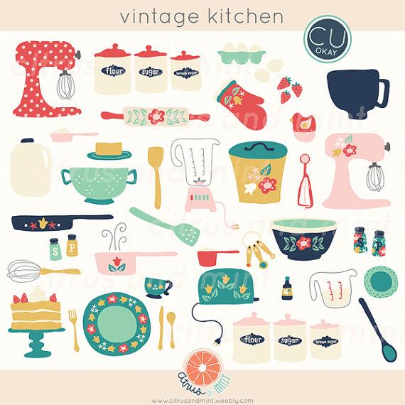 Kitchen border clip art