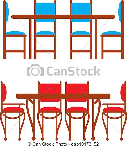 Set Kitchen Table Clipart