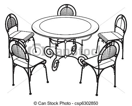 Kitchen Table Clip Art on table and chairs set 6