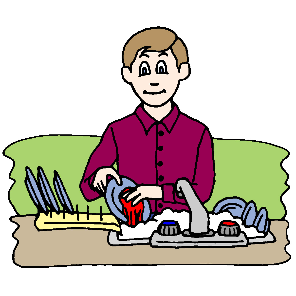 kitchen 20table 20clip 20art  Table Cleaner Clip Art