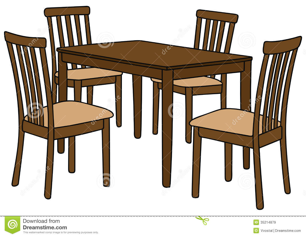 Kitchen table and chairs clipart clipart panda free for House furniture design kitchen