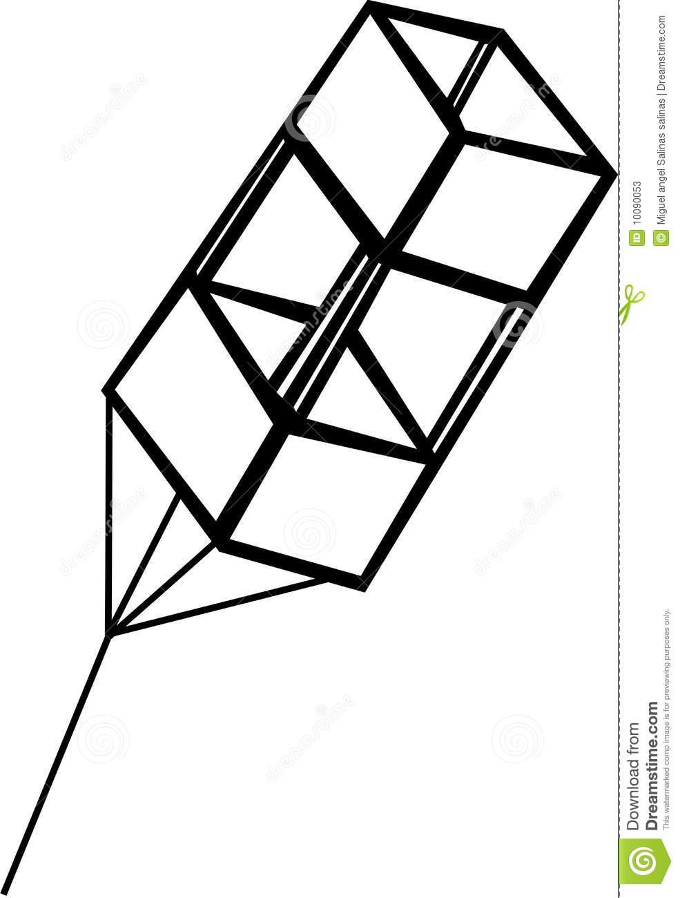 clipart black and white kite - photo #10
