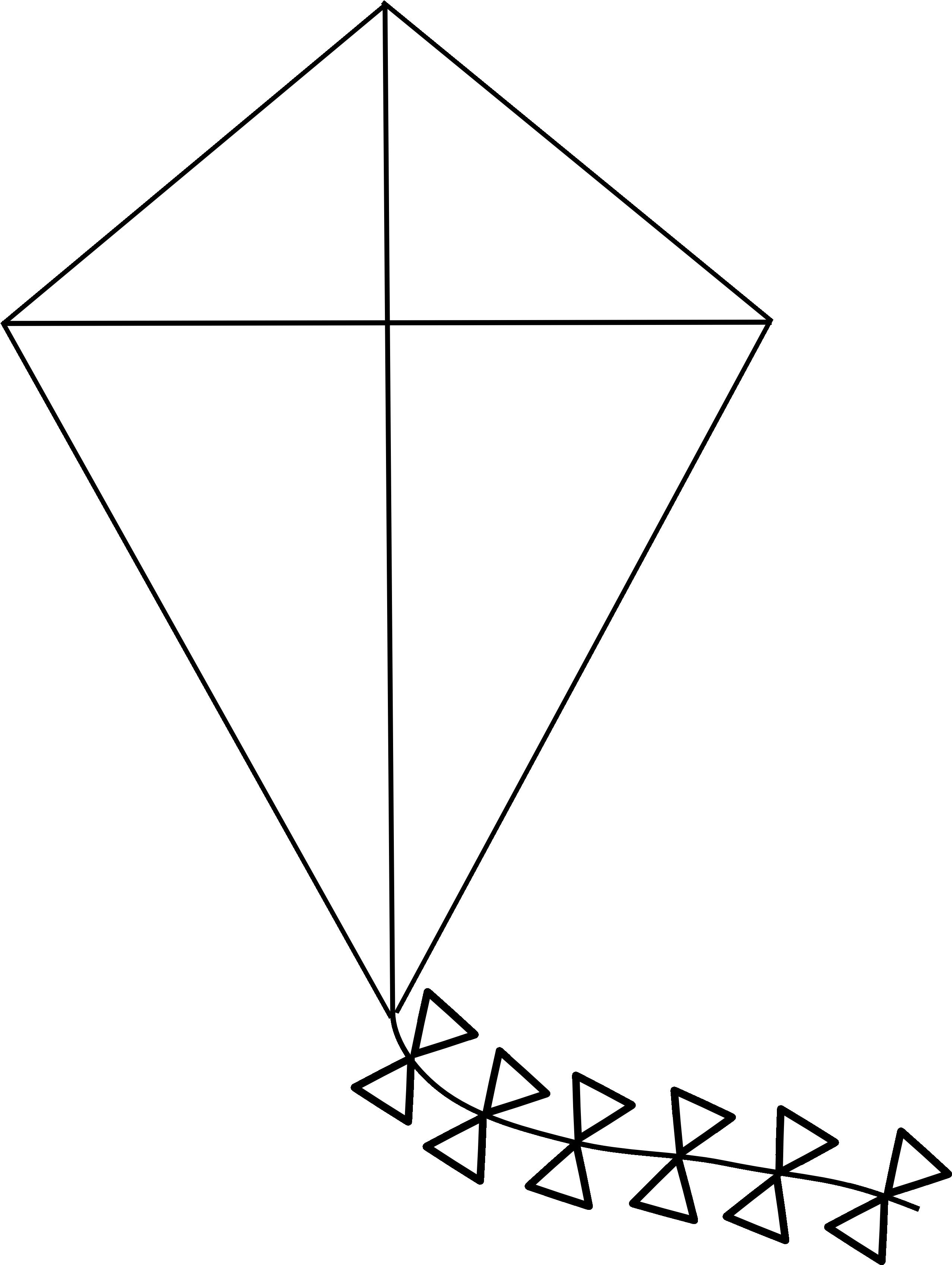 Line Drawing Kite : Kite clipart black and white panda free