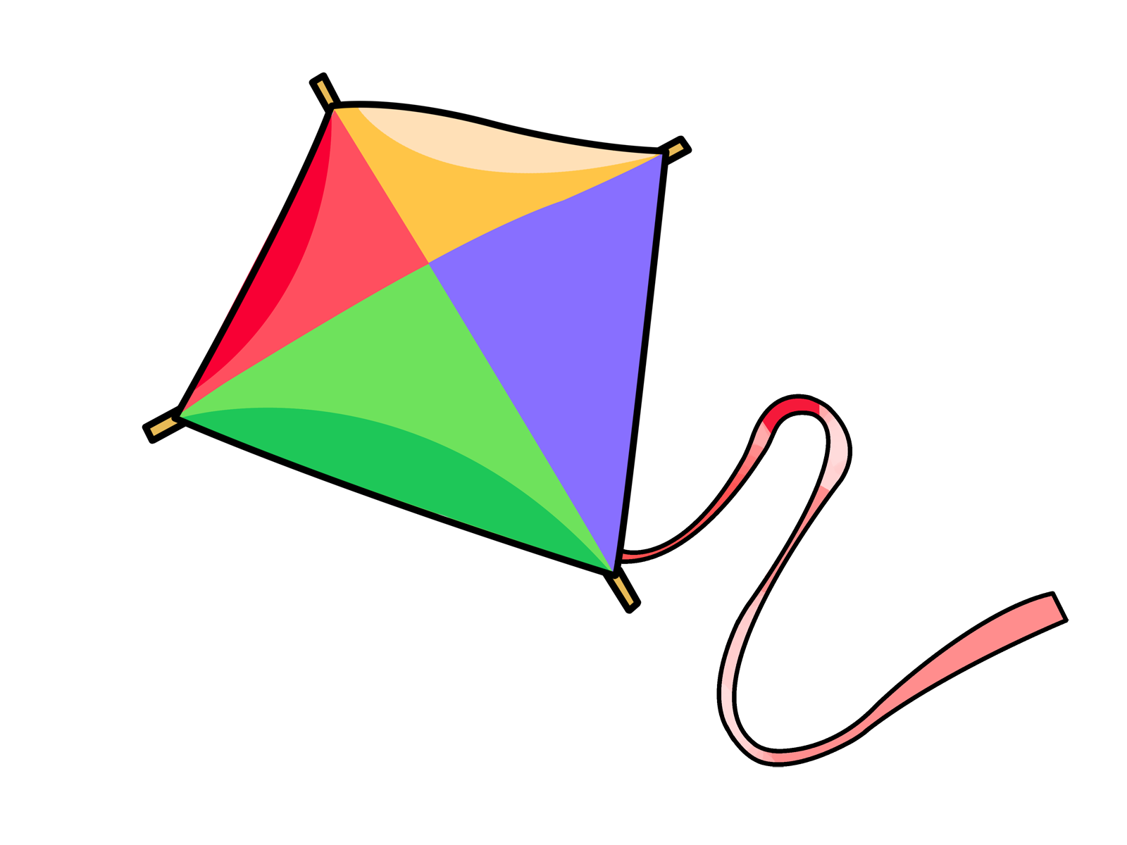 clipart kite flying - photo #27
