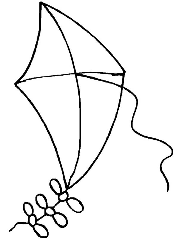 50 kite coloring pages a loose kite coloring pagejpg - Kite Coloring Page