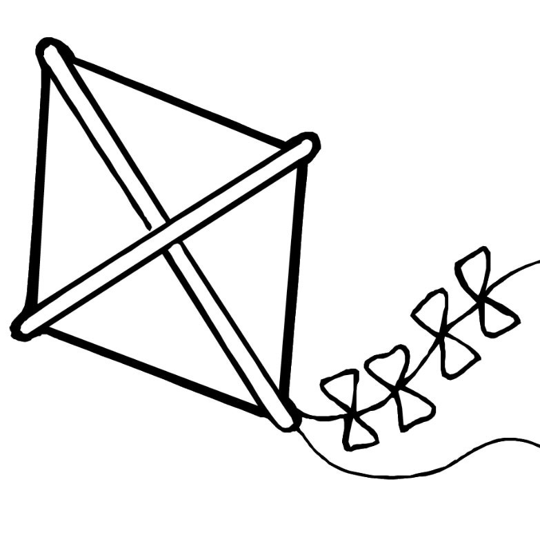Kite Coloring Pages | Clipart Panda - Free Clipart Images