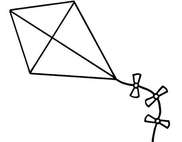 Kite Coloring Pages Clipart Panda Free Clipart Images