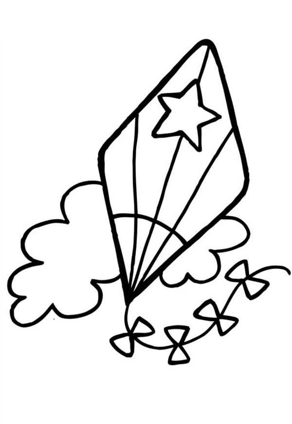 Kite Coloring Pages Free Print Httppic2flycomkitecoloringpages