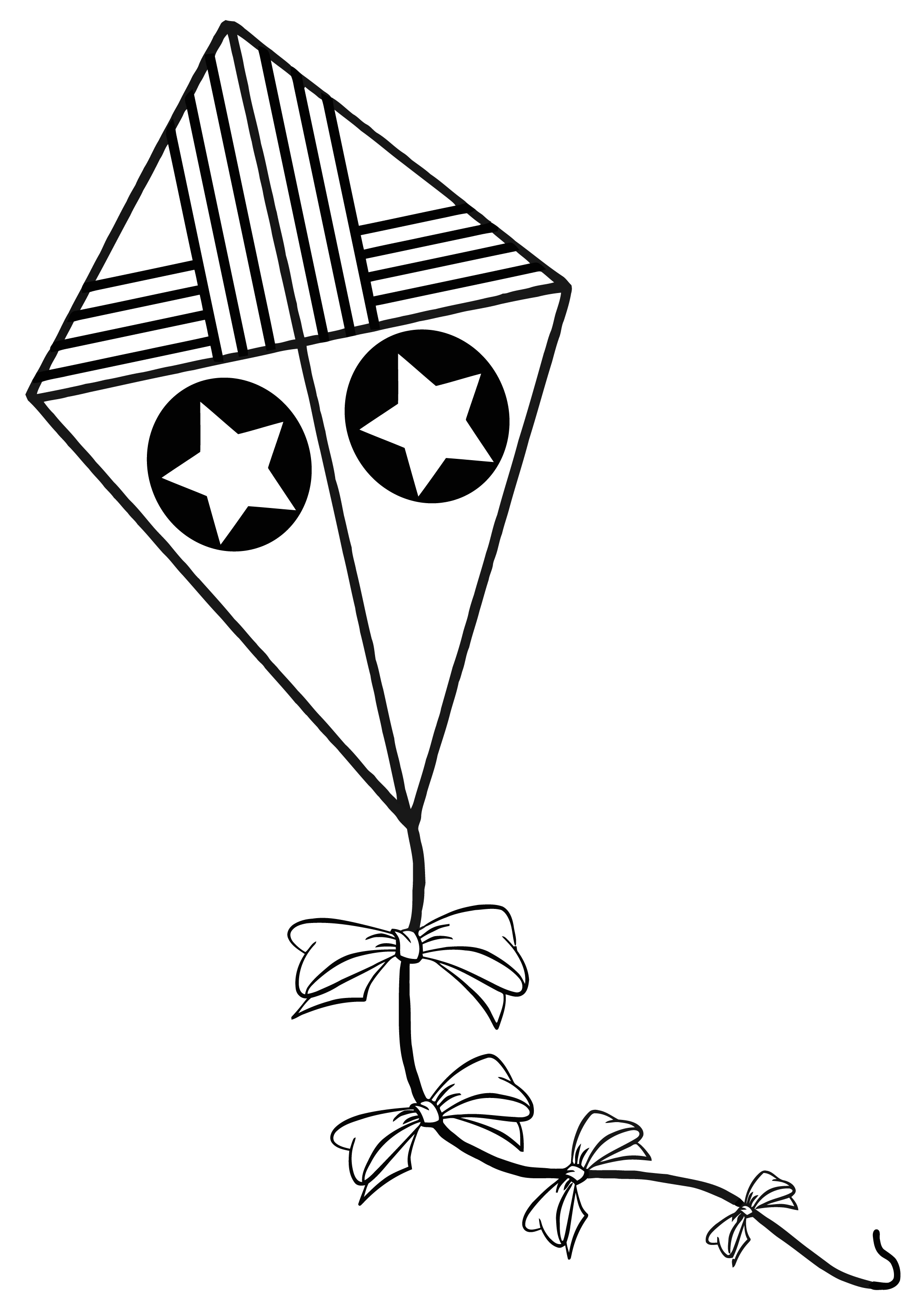 Line Art Kite : Kite coloring pages clipart panda free images