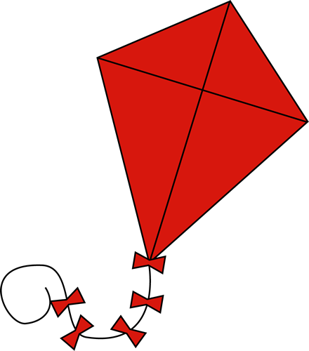clipart kite flying - photo #6