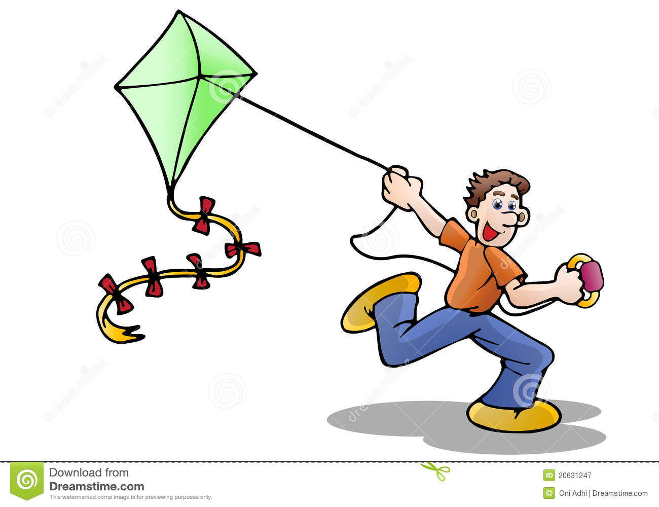 clipart kite flying - photo #37