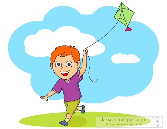 clipart kite flying - photo #17