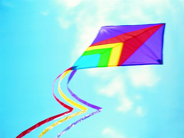 Colorful Kite in blue sky | Clipart Panda - Free Clipart