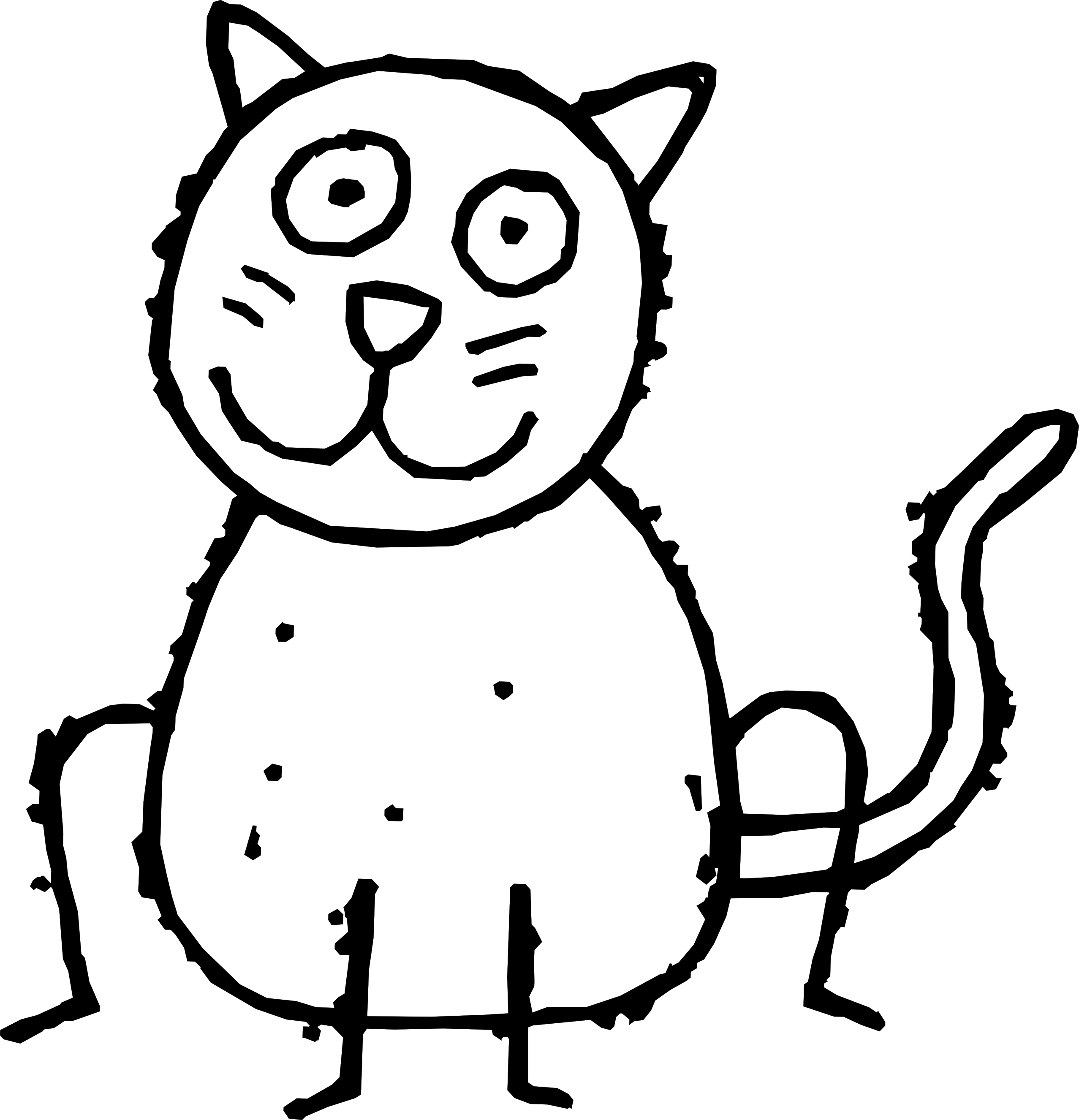 Line Art Cat : Puppy and kitten clipart black white panda