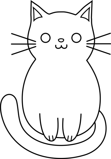 Line Drawing Of A Cat Face : Cute cat clipart panda free images