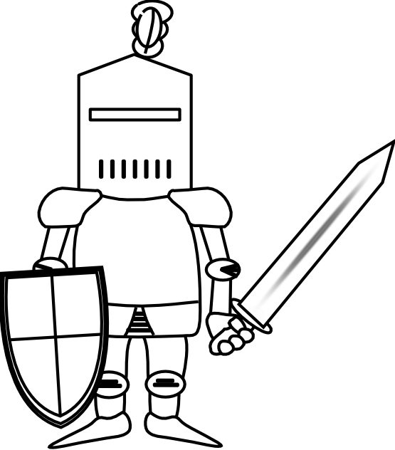 Line Drawing Knight : Ritter knight black white line clipart panda free