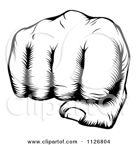 how to draw a balled fist