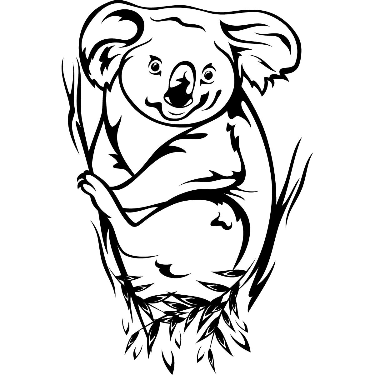 Line Drawing Koala : Koala clipart black and white panda free