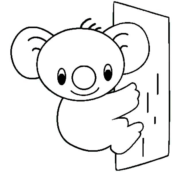Free Coloring Pages Of Koala
