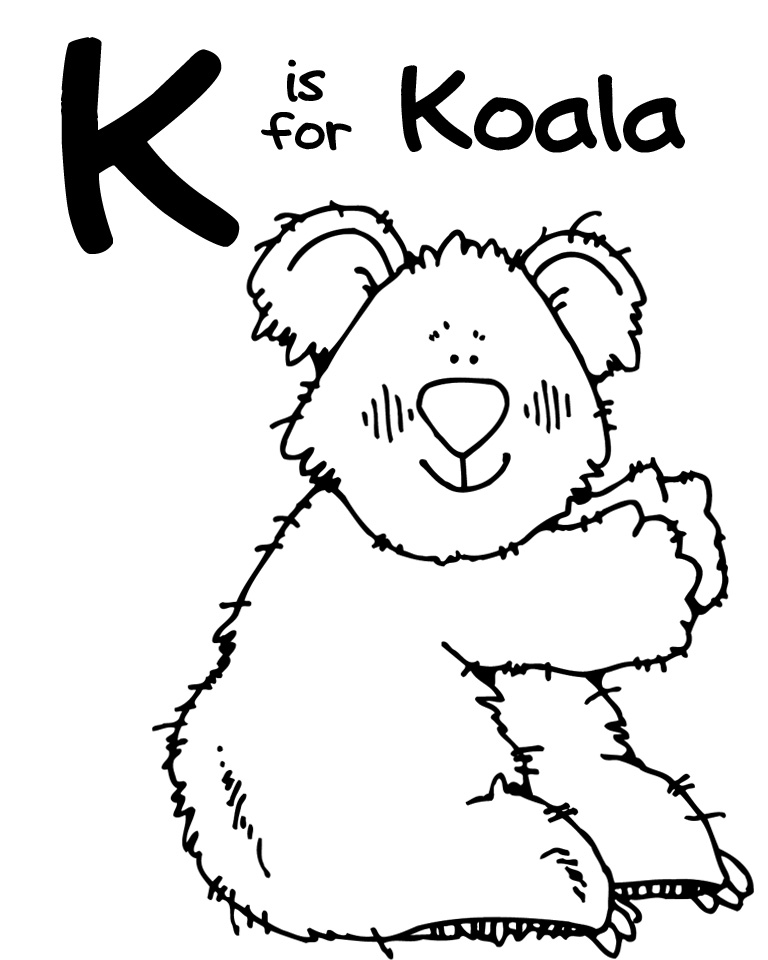 Koala clipart clipart panda free clipart images for Koala coloring pages