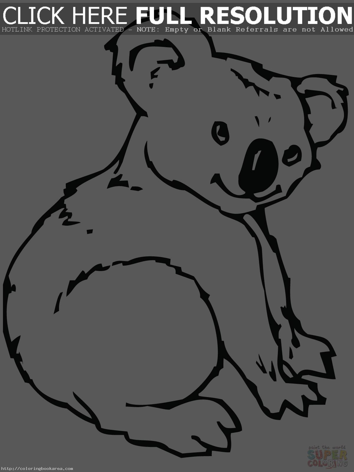 Printable coloring pages koala - Koala 20coloring 20pages