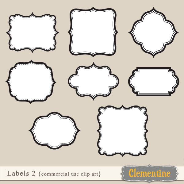 Label Clip Art Free   Clipart Panda - Free Clipart Images