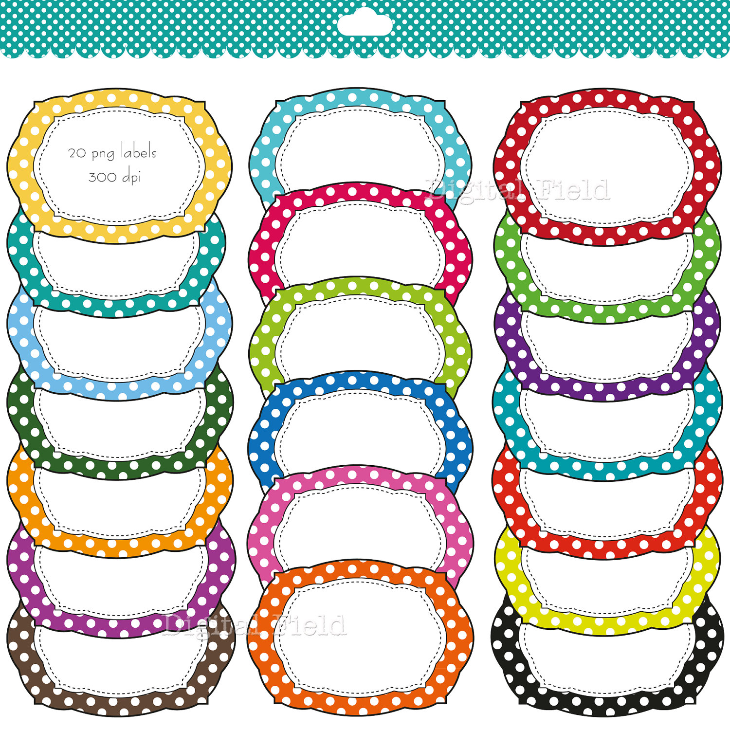 Colorful polka dot labels clip | Clipart Panda - Free Clipart Images