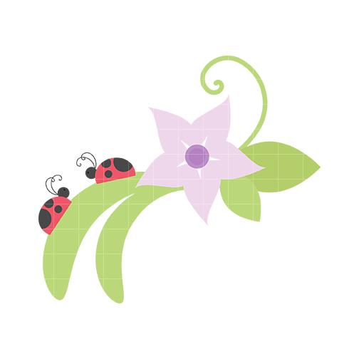 Ladybug On Flower Clip Art – Cliparts