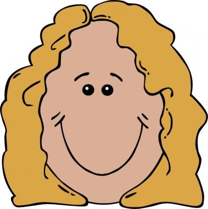 Büro frau clipart kostenlos  free vector Lady Face clip art | Clipart Panda - Free Clipart Images