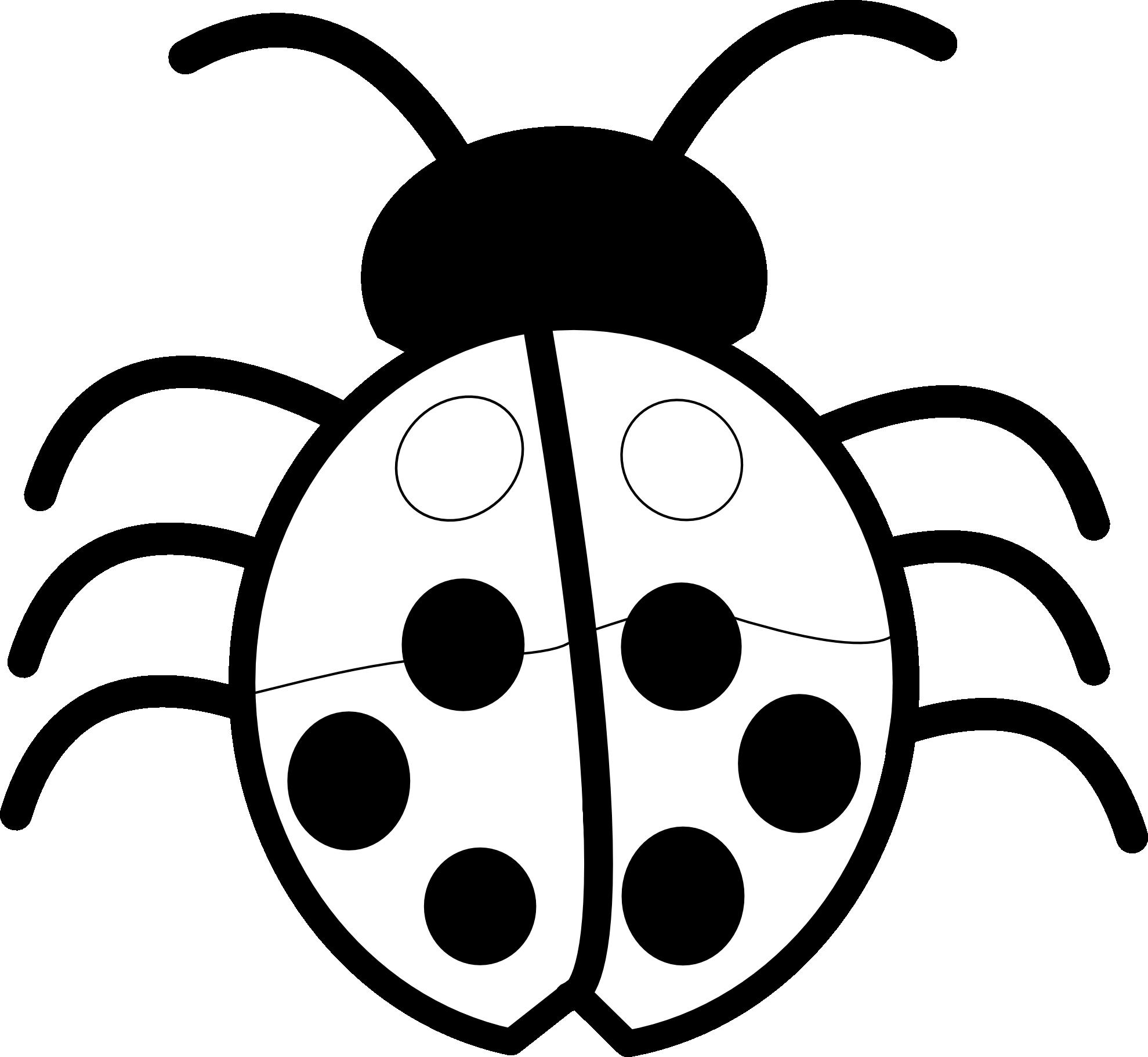Ladybug Clipart Black And White | Clipart Panda - Free