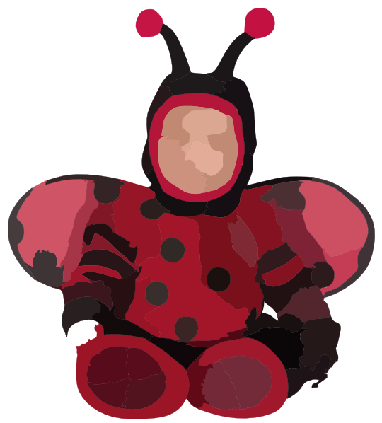 Ladybug Costume Baby Clipart Panda