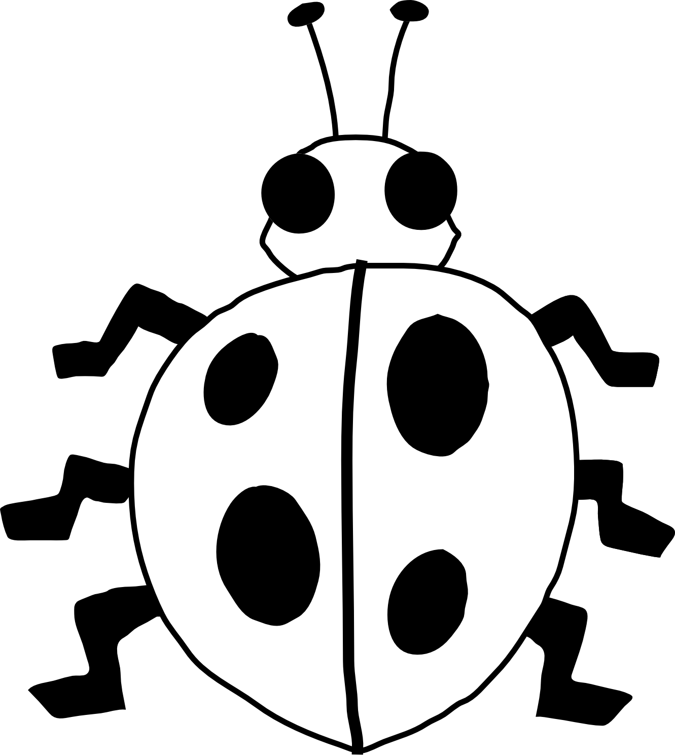 ladybug on blue flower clipart panda free clipart images