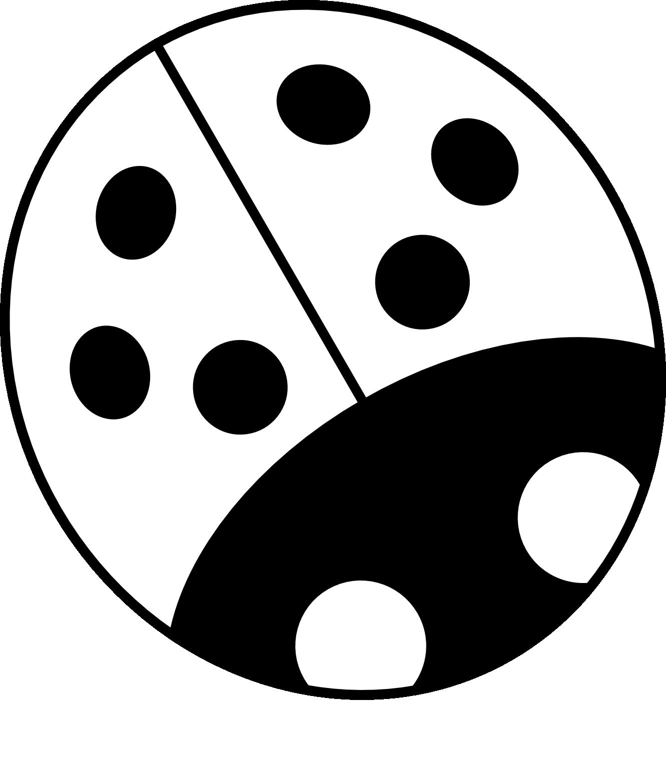 Clip art flower black and white clipart panda free clipart images ladybug20on20blue20flower mightylinksfo