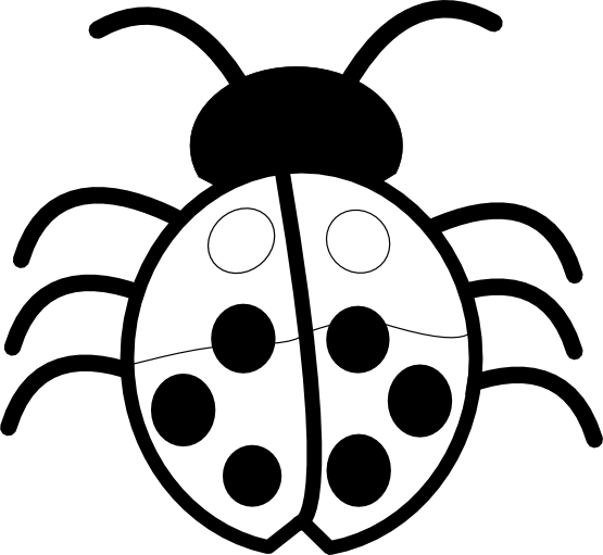 Ladybug Clipart Black And White | Clipart Panda - Free Clipart Images