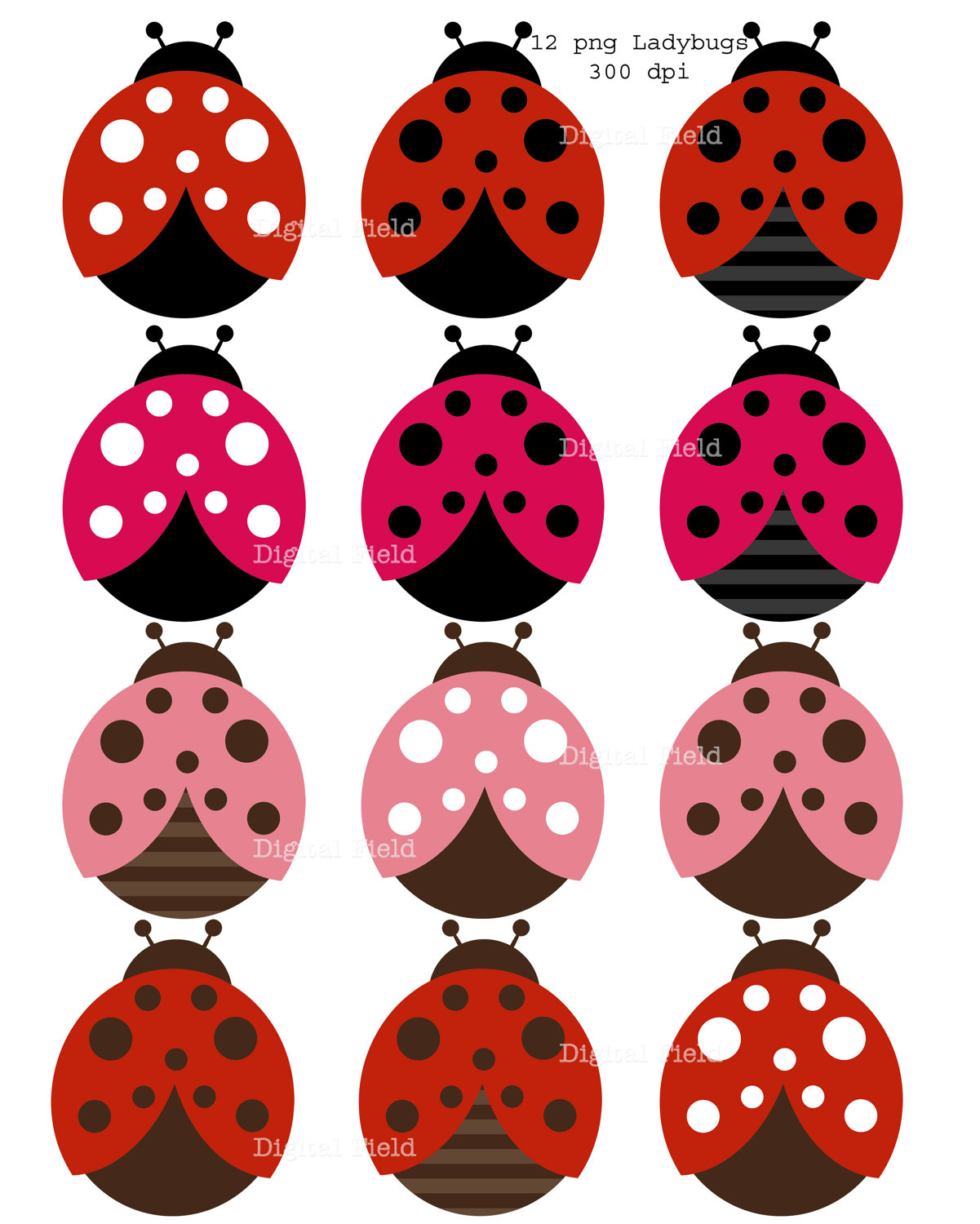 Pink Lady Bug Invitations | Clipart Panda - Free Clipart Images
