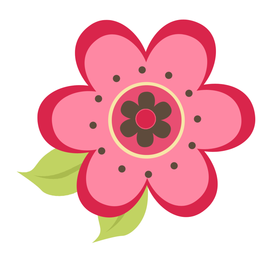 ladybug on pink flower clipart panda free clipart images