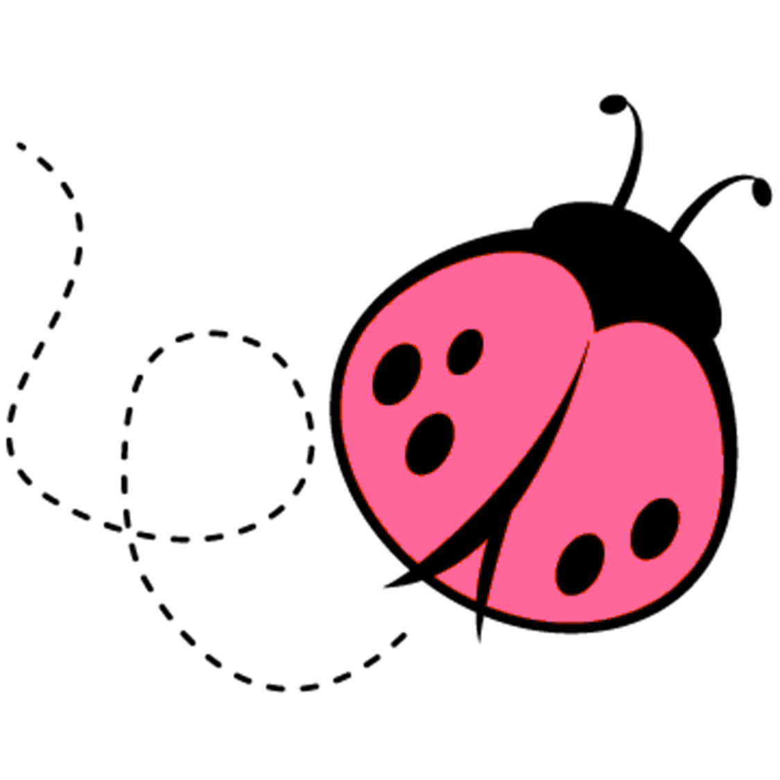 pink lady bug baby shower clipart panda free clipart