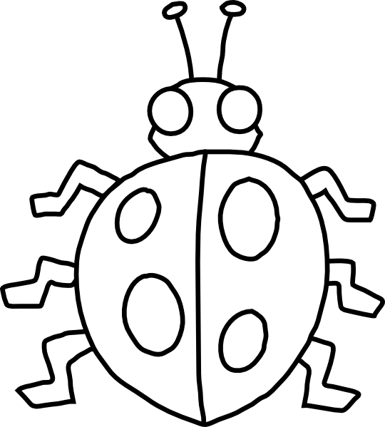 Ladybug Outline Clipart | Clipart Panda - Free Clipart Images