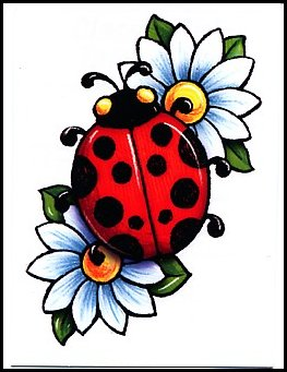 Lady Bug On Flower | Clipart Panda - Free Clipart Images