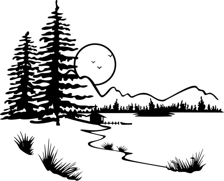Lake Clipart Black And White | Clipart Panda - Free ...