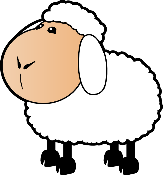 Line Drawing Of Sheep Face : Lamb face clip art clipart panda free images