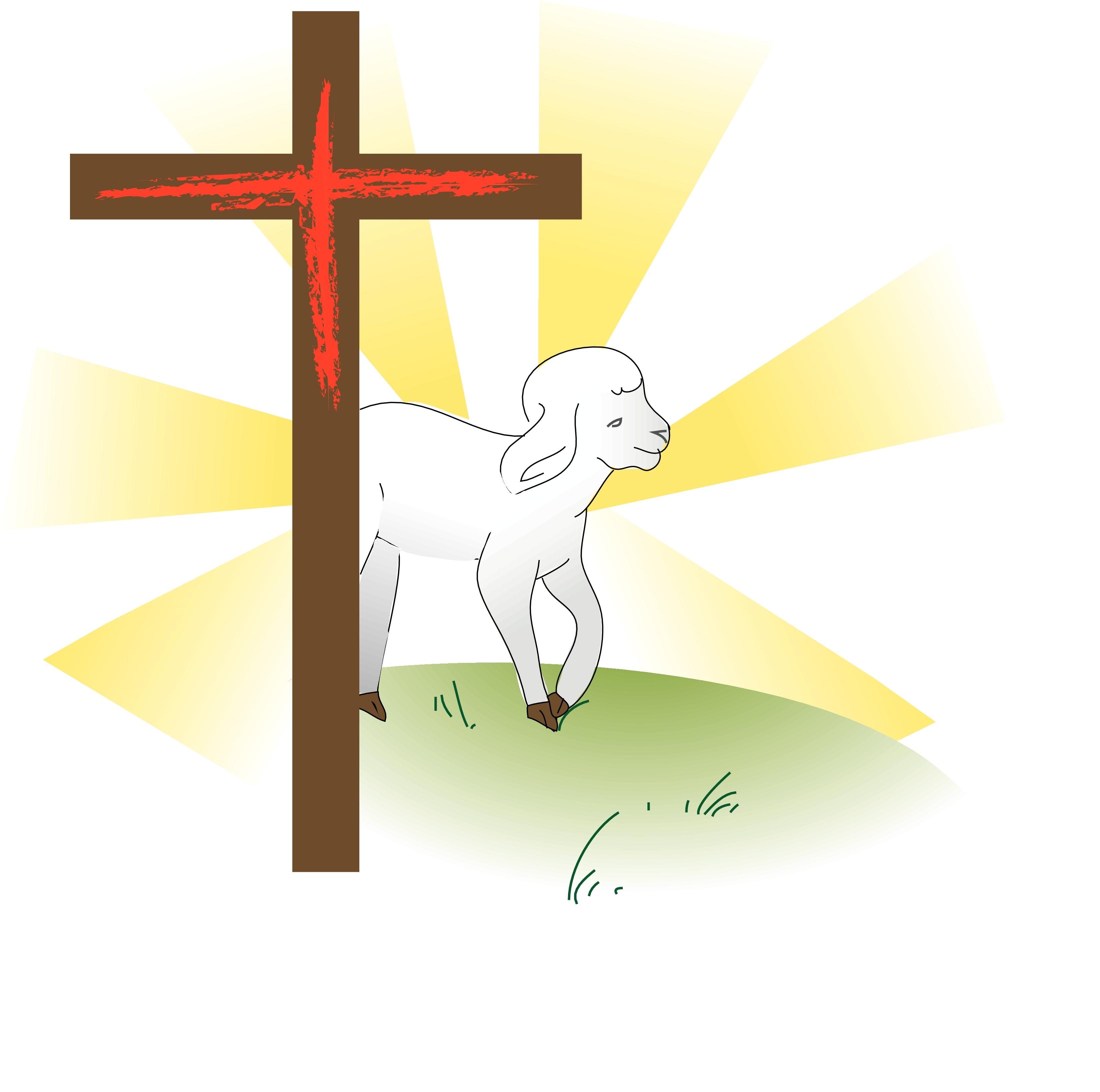 lamb and cross clip art clipart panda free clipart images