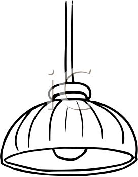 lamp clipart black and white - photo #25