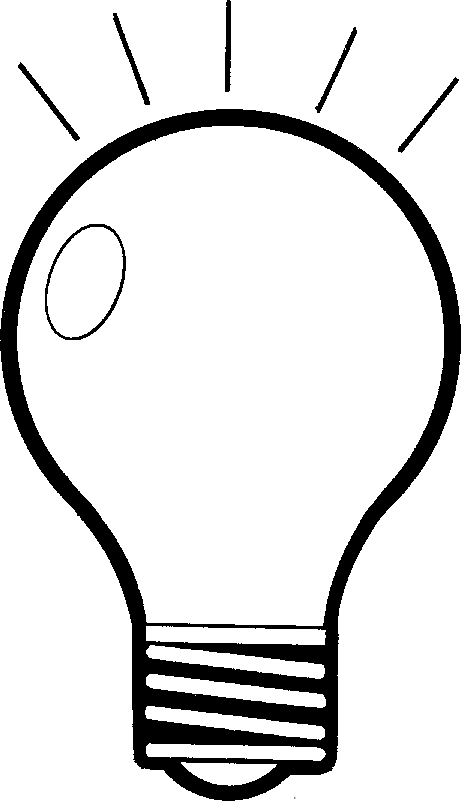 Light Bulb Clip Art Black And White | Clipart Panda - Free ...