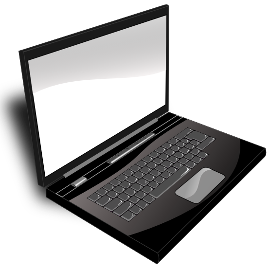 Laptop Black And White laptop 20clipart 20black 20and