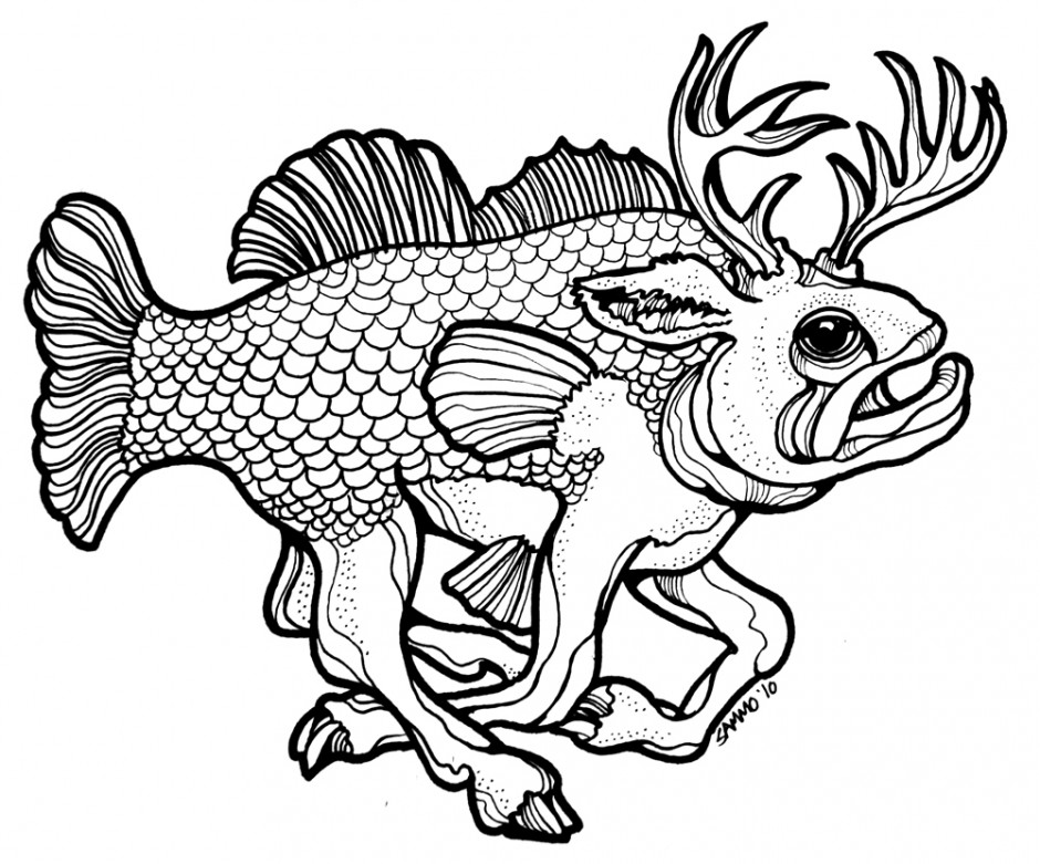 Buck Bass Drawing Challenge A | Clipart Panda - Free Clipart Images
