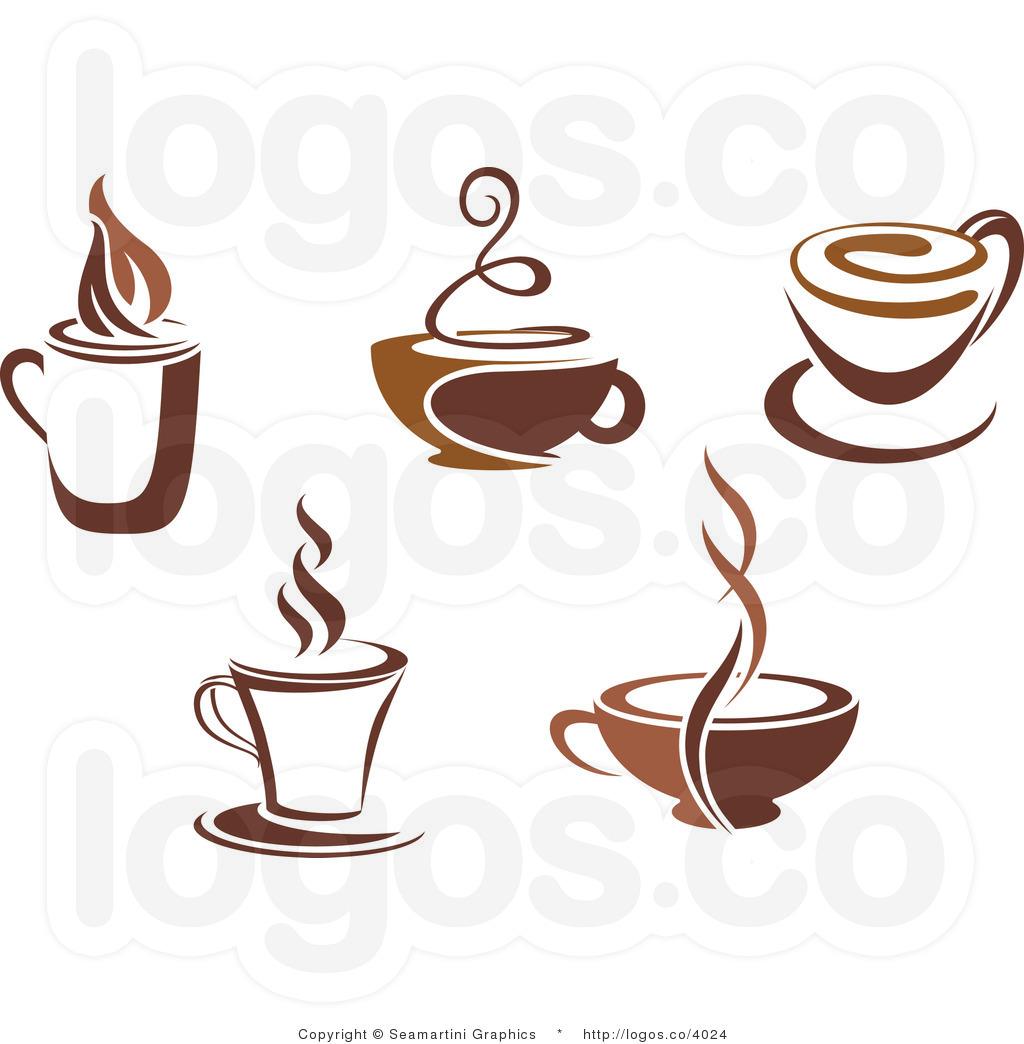 Coffee cup Logo design vector template Negative space