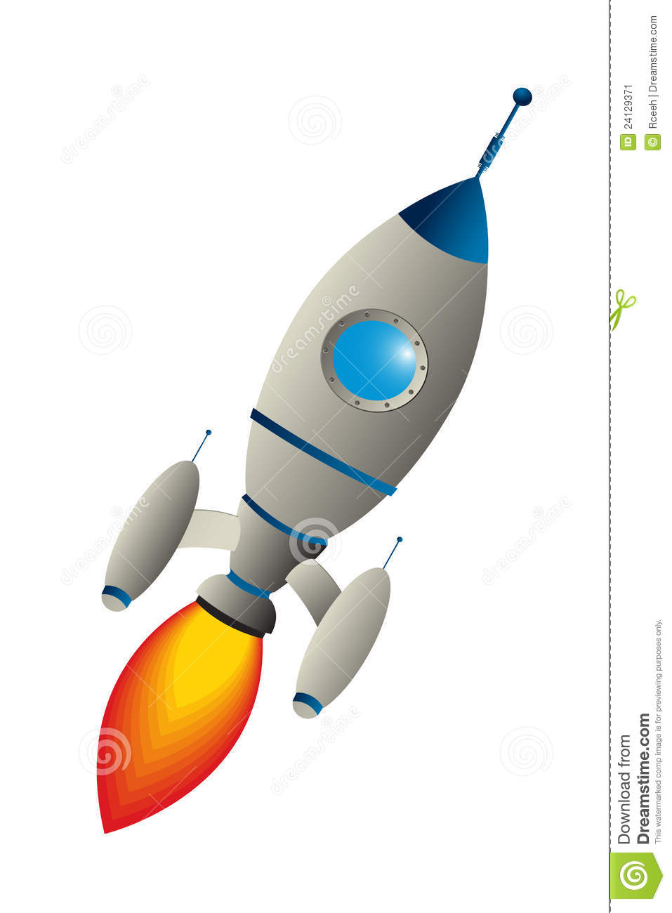 Rocket Ship Clipart Black And White
