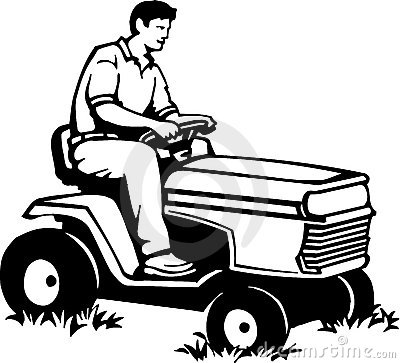 Lawn Mower Clipart Black And White Lawn mower clip art