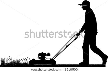 Back > Pix For > Lawn Mower Silhouette Png